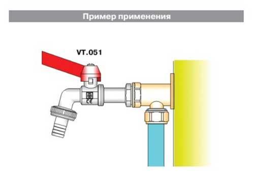 Кран водоразборный применение