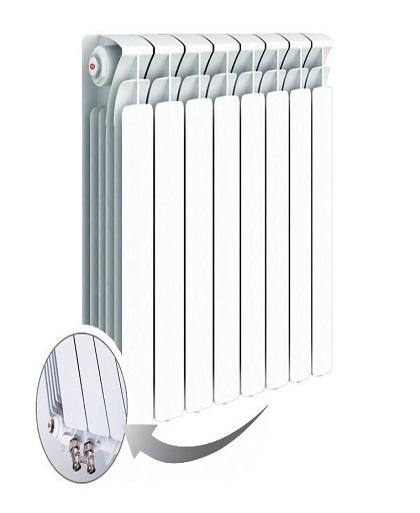 Радиатор биметаллический Rifar Base Ventil 500 нижнее правое подключение 8 секций