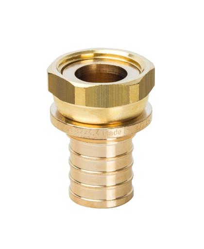 Купить Переходник 32xG 1″ с накидной гайкой для PEX трубы STOUT можно в магазине pprcshop.ru по отличной цене, доставка, самовывоз