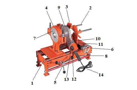 """Устройство сварочного аппарата """"Lammin"""" MSA-1800-002 для ПП труб (63 - 160 мм)."""