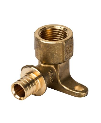 Угольник настенный с креплением 16xRp 1/2″ для PEX трубы