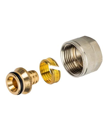 Купить фитинг компрессионный 16х2,0х3/4″ для PEX трубы можно в интернет магазине pprcshop.ru по отличной цене, доставка, самовывоз