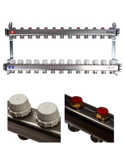Купить Коллектор 1″х3/4″x13 без расходомеров (13 выходов, нержавеющая сталь) можно в интернет магазине pprcshop.ru по отличной цене