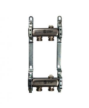 """Купить коллектор 1""""х3/4""""x2 для радиаторной разводки на 2 выхода из нержавеющей стали в магазине pprcshop.ru по отличной цене"""
