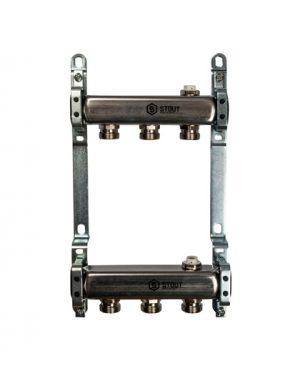 """Купить коллектор 1""""х3/4""""x3 для радиаторной разводки на 3 выхода из нержавеющей стали в магазине pprcshop.ru по отличной цене"""