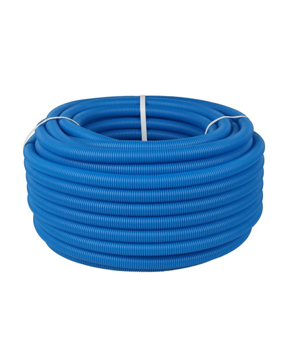 Купить труба гофрированная ПНД 20 синяя (для труб диаметром 16 мм. бухта 50 м) можно в интернет магазине pprcshop.ru по отличной цене