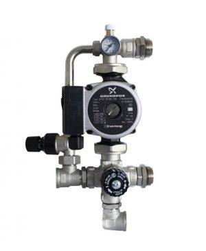 Купить насосно-смесительный узел с клапаном и байпасом (насос Grundfos UPSO 25-65) можно в магазине pprcshop.ru по отличной цене