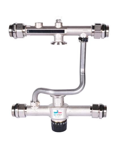 Купить Насосно-смесительный узел с термостатическим клапаном 30-60 °C (без насоса) можно в магазине pprcshop.ru по отличной цене